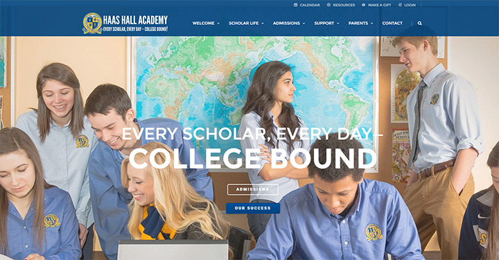 haas hall school website