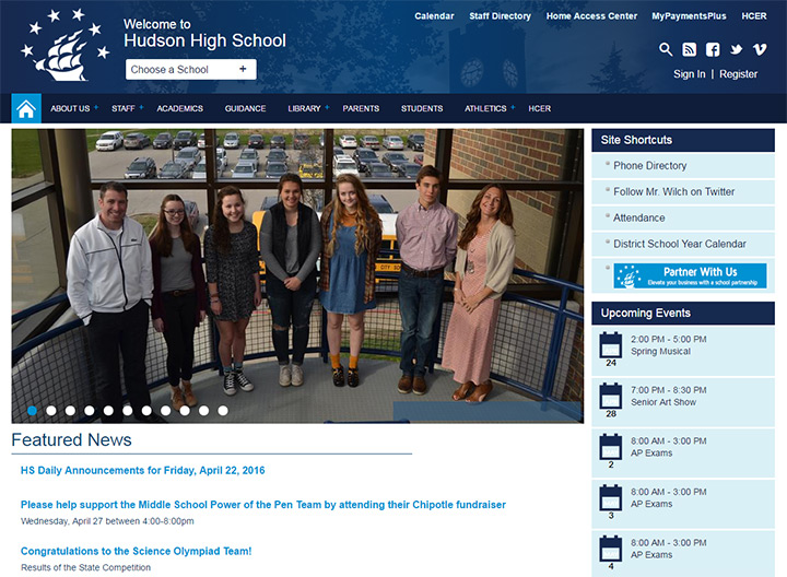 ohio hudson high school website