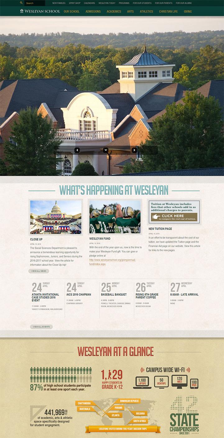 wesleyan school website