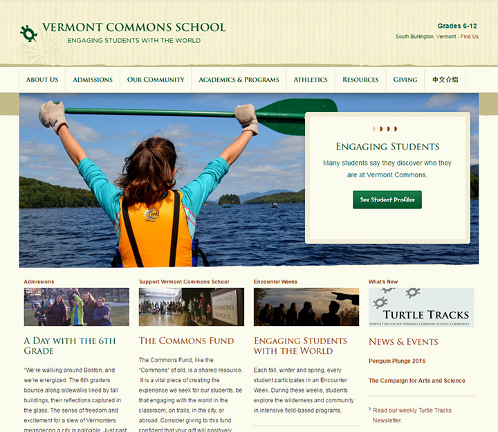 vermont commons school website