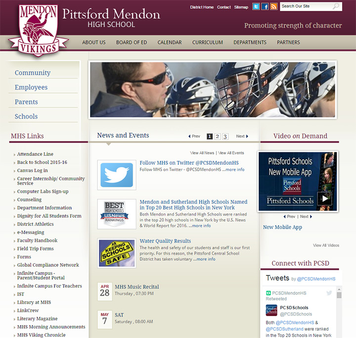 pittsford mendon school website