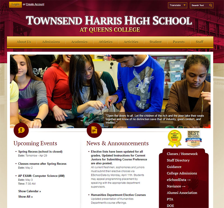 townsend harris school website