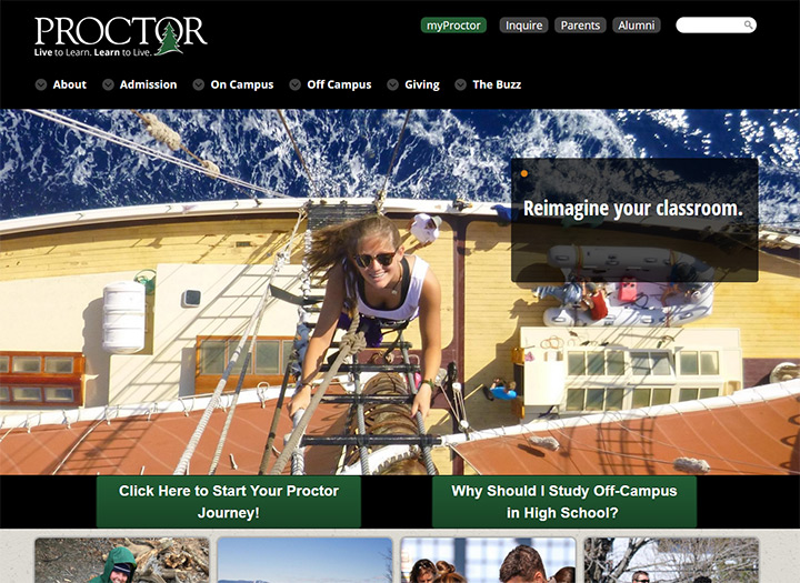 proctor academy website