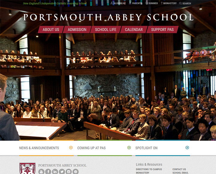 portsmouth abbey school website