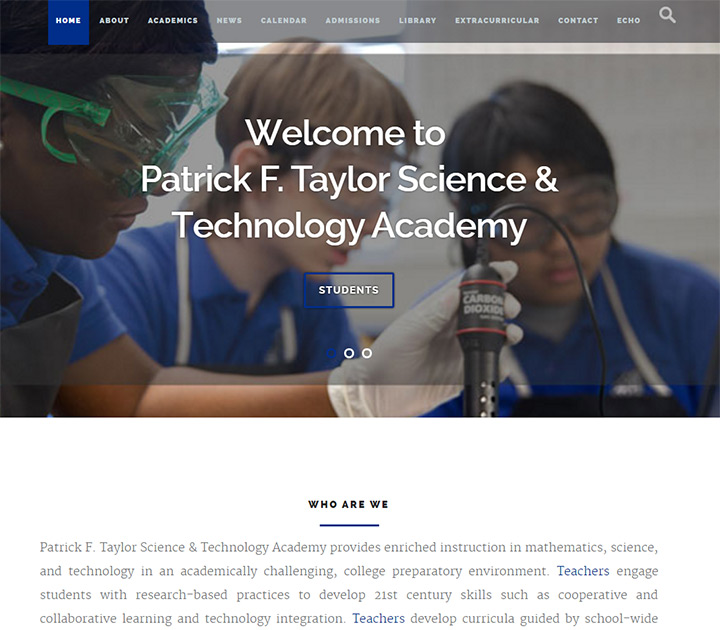 science technology high school website