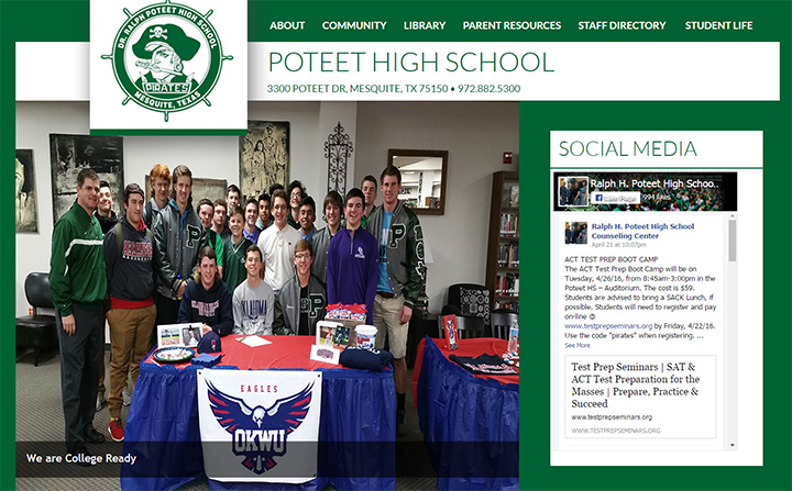 poteet texas high school website