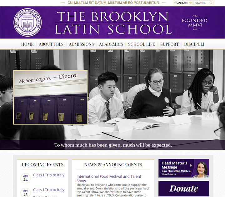 brooklyn latin school website