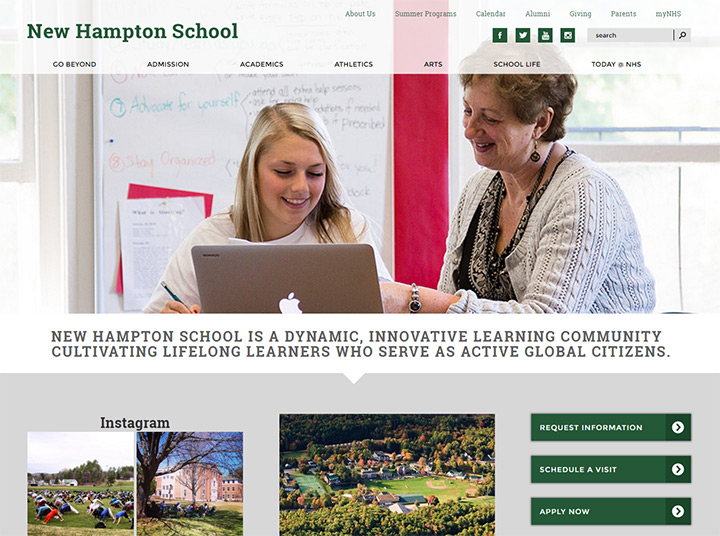 new hampton school website