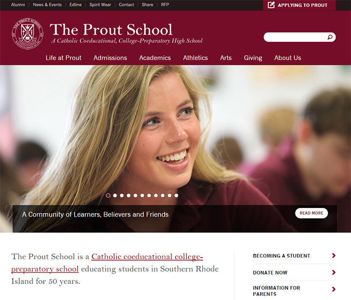 prout high school website layout