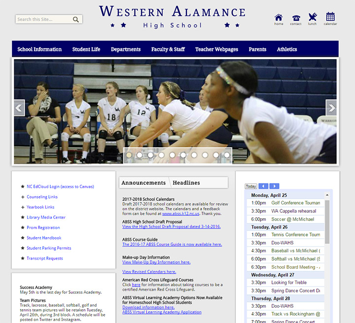 western almance high school website