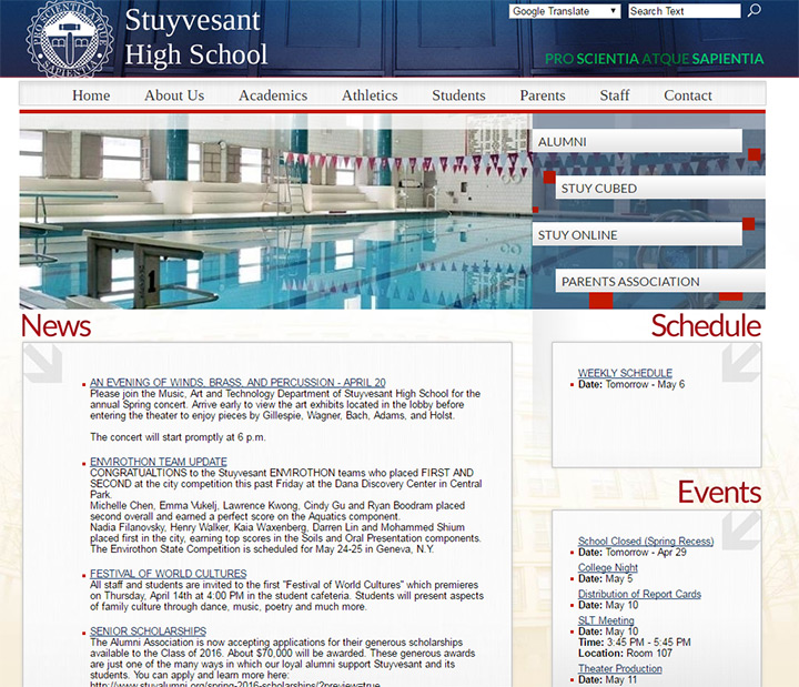 stuyvesand school website