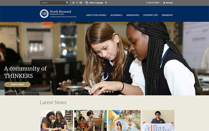 north broward school website