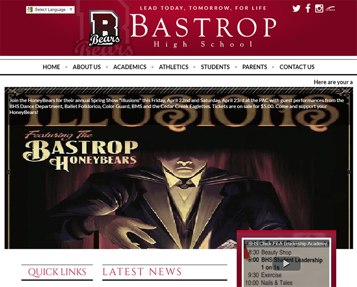 bastrop school website