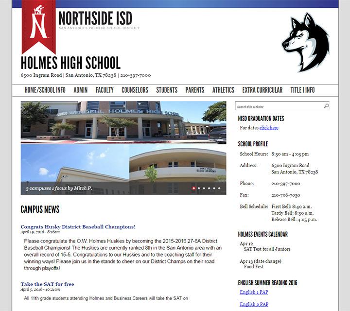 holmes school website