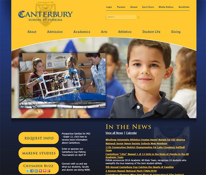 canterbury private school website