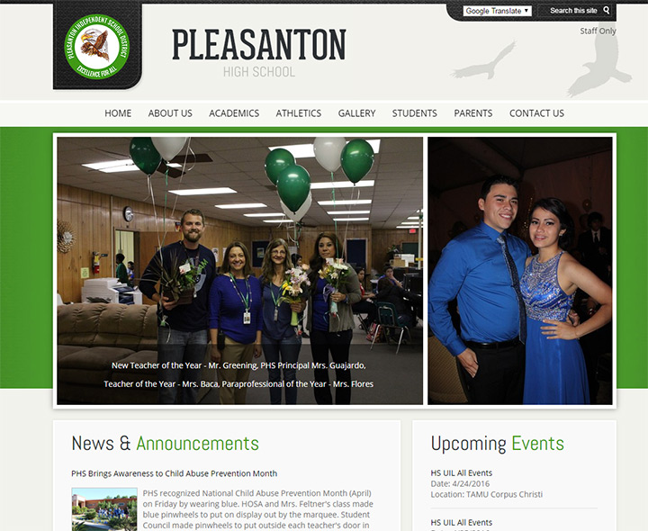 pleasanton school website