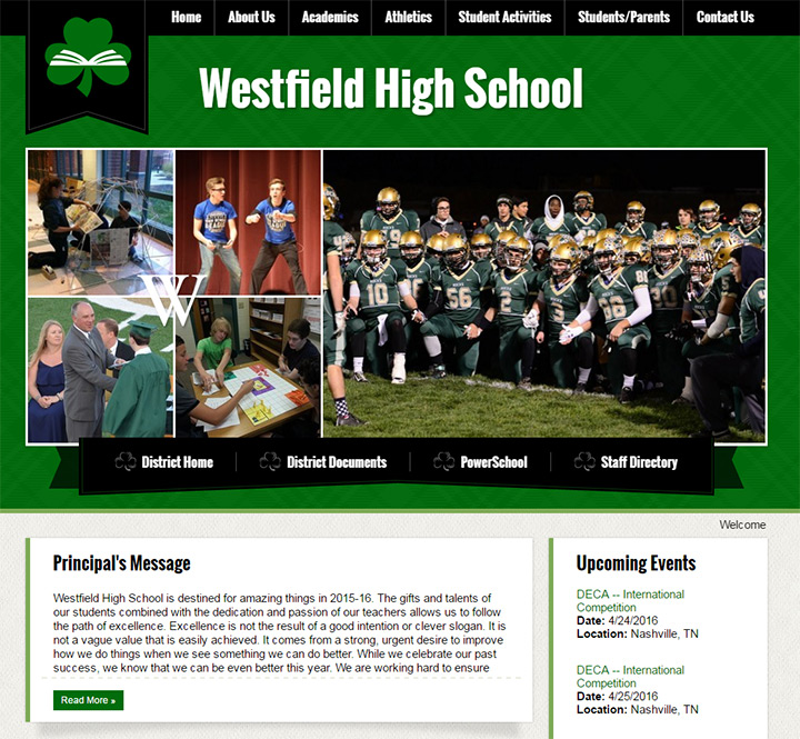 westfield high school website