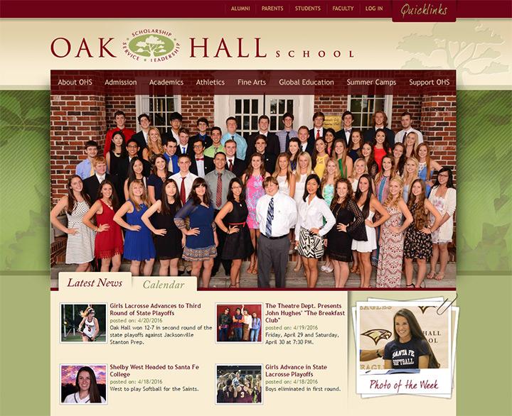 oak hall school website