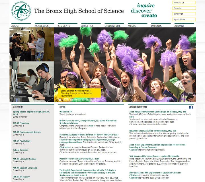 nyc bronx high website