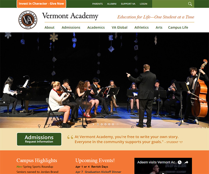 vermont academy website