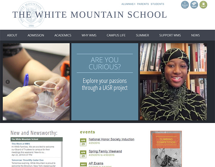 white mountain school website