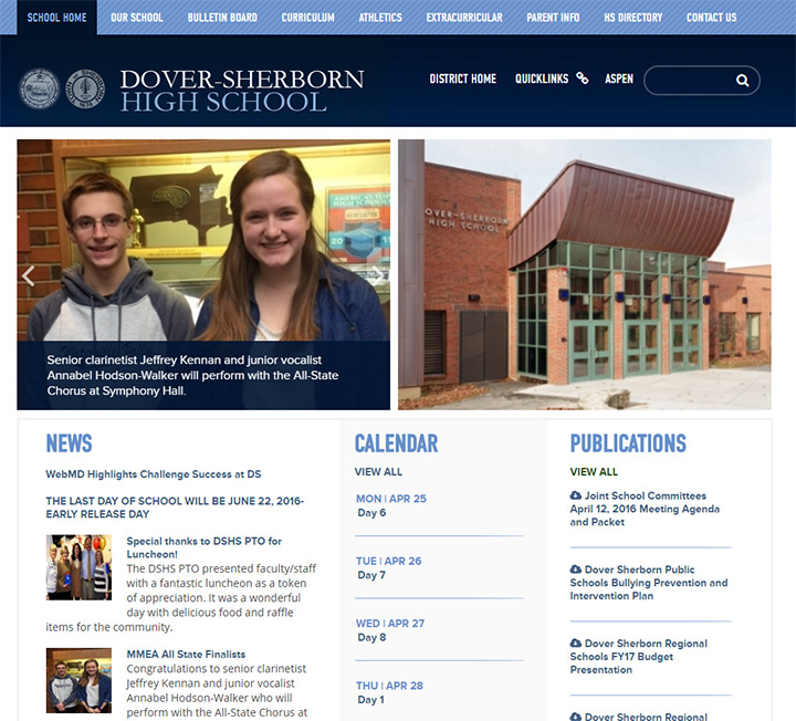 dover sherborn school website