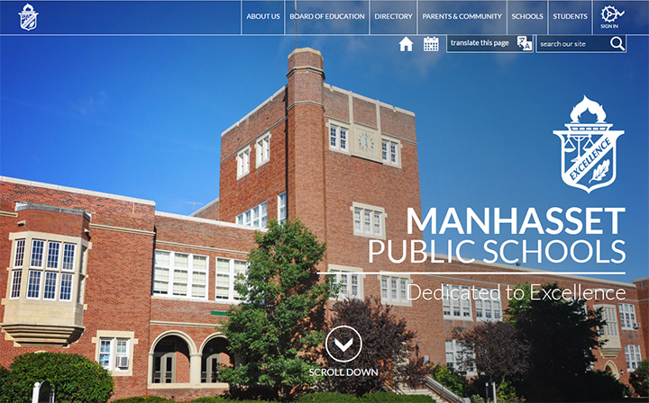 manhasset school website layout