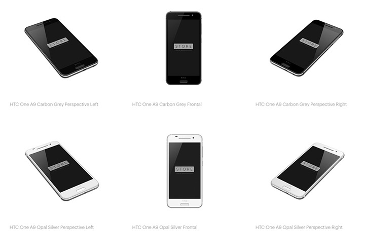 htc one a9 mockup pack preview
