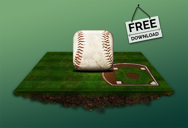 freebie baseball textured icon download