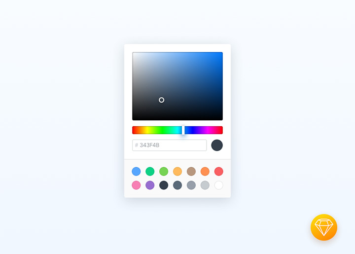 freebie color picker interface sketch