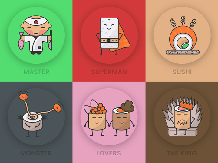 freebie sushi food icons