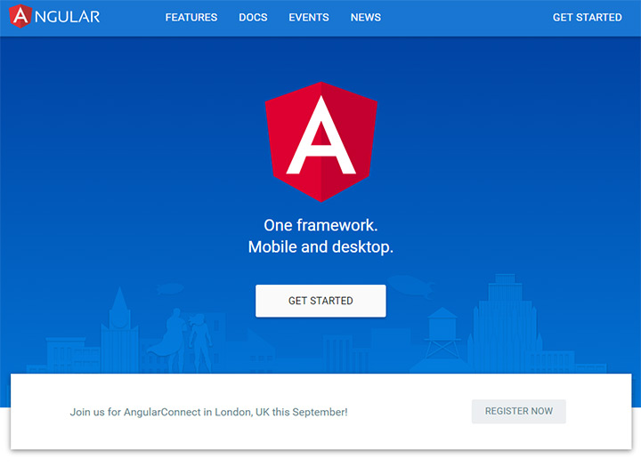 angularjs homepage