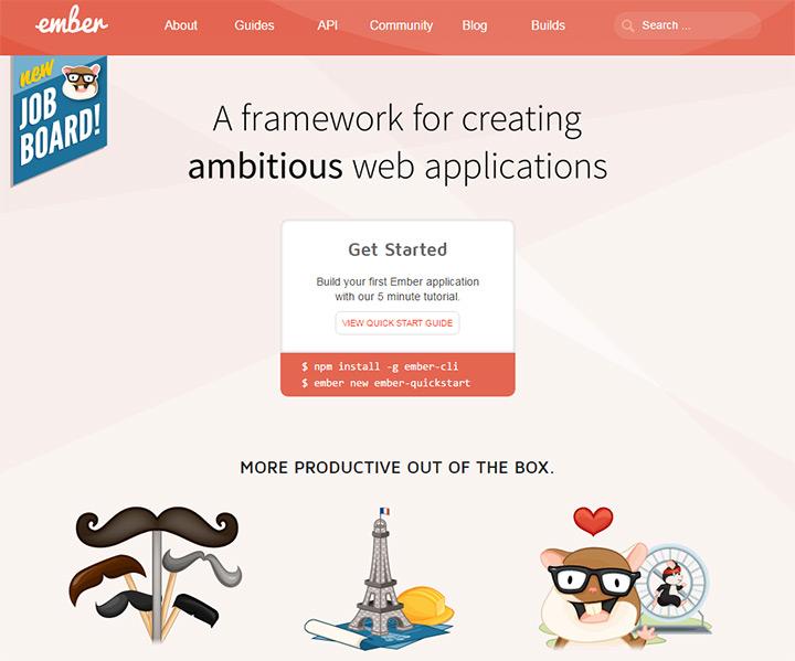 emberjs homepage
