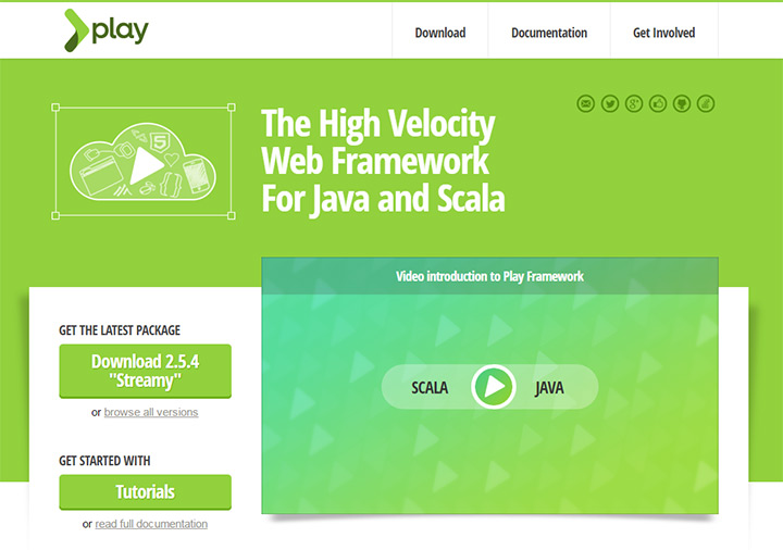 java play framework homepage