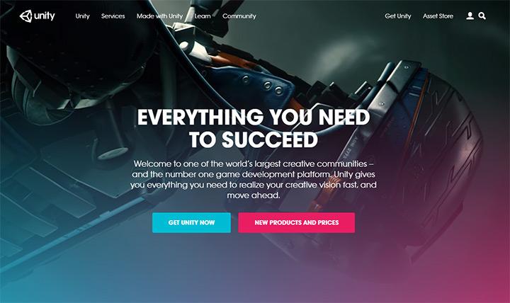 unity 3d homepage