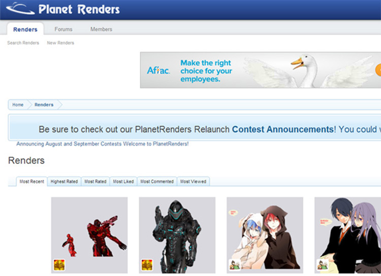 planetrenders homepage website freebie graphics png artwork