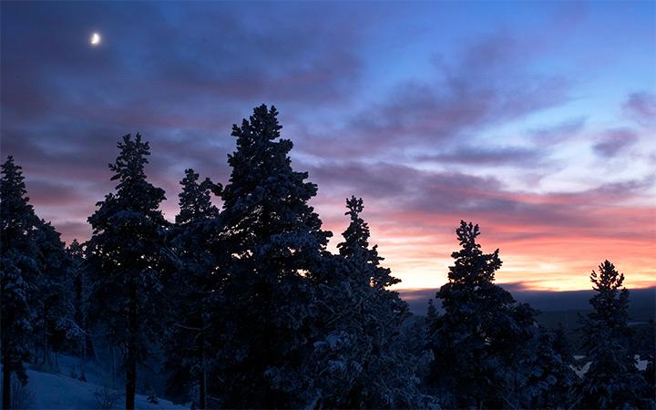 northern sunset sweden wallpaper desktop