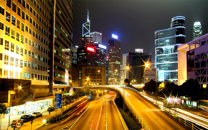 wanchai hong kong city nighttime wallpaper
