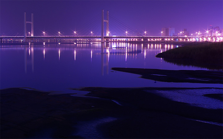 dark night bridge taiwan wallpaper
