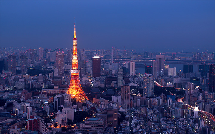 dark night tokyo japan skyline wallpaper
