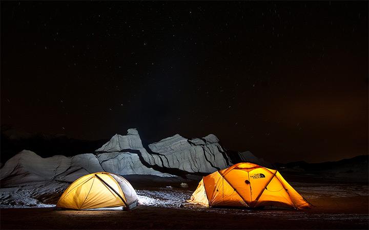 mojave desert california camping photo