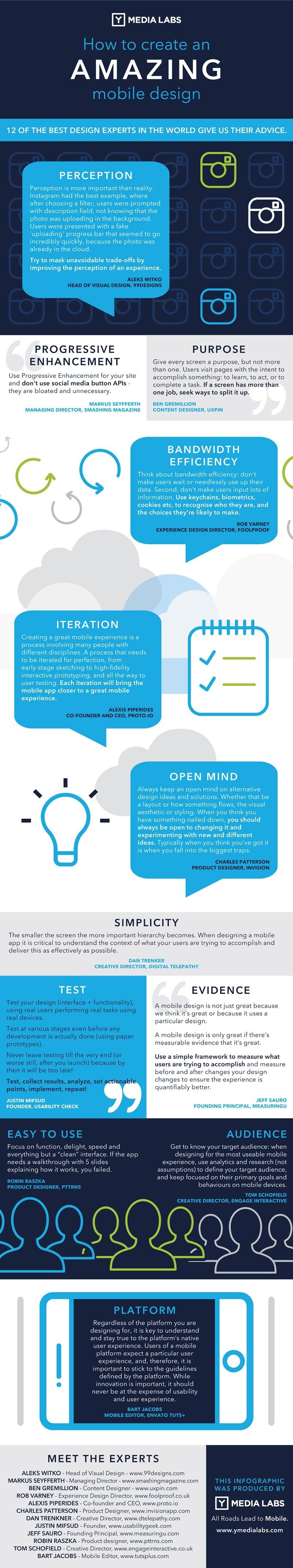 mobile design advice infographic