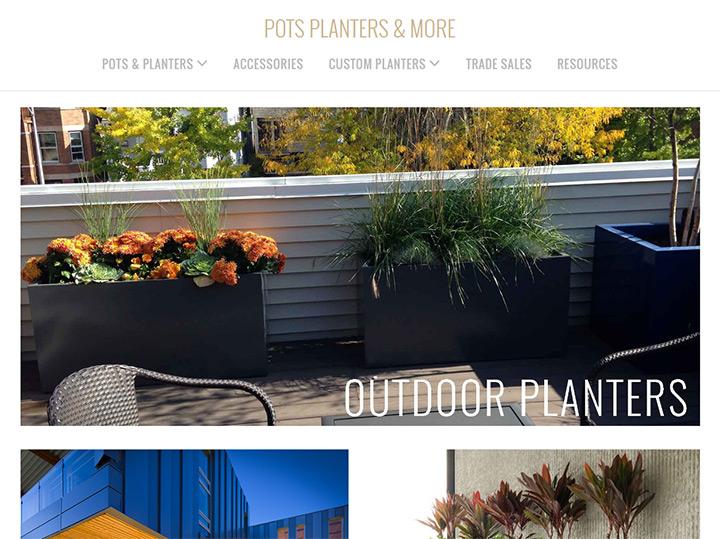 modern planter pots