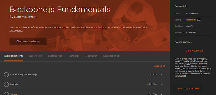 Pluralsight premium backbonejs learning