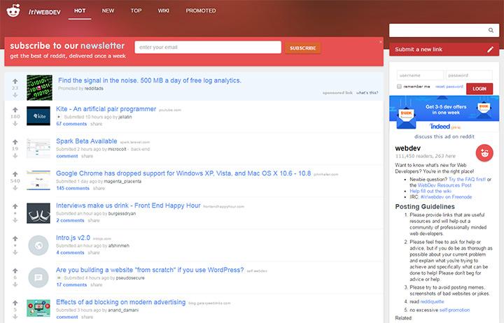 reddit r webdev community