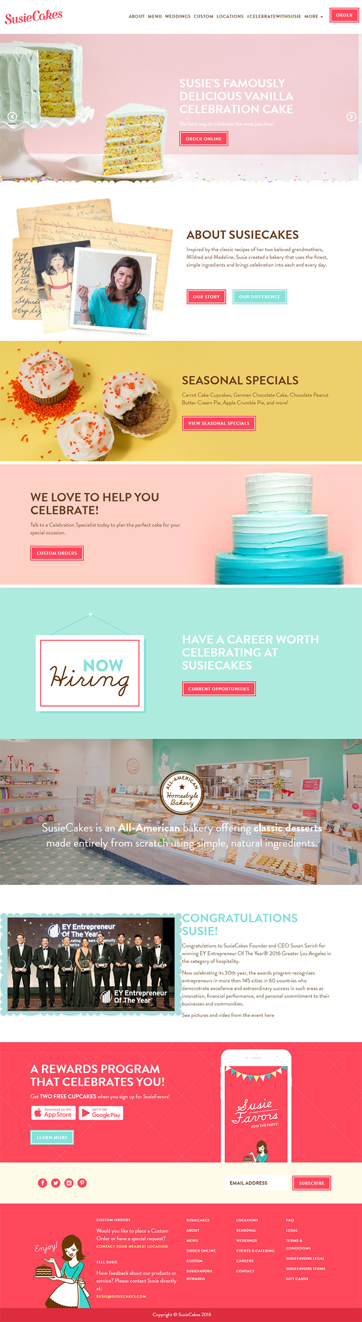 susie cakes website