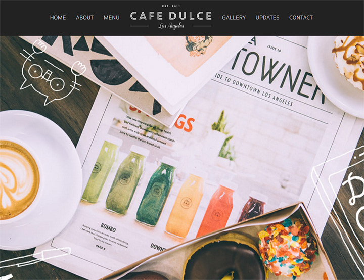 cafe dulce homepage