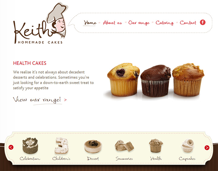 keith cakes homepage