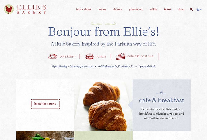 ellies bakery website