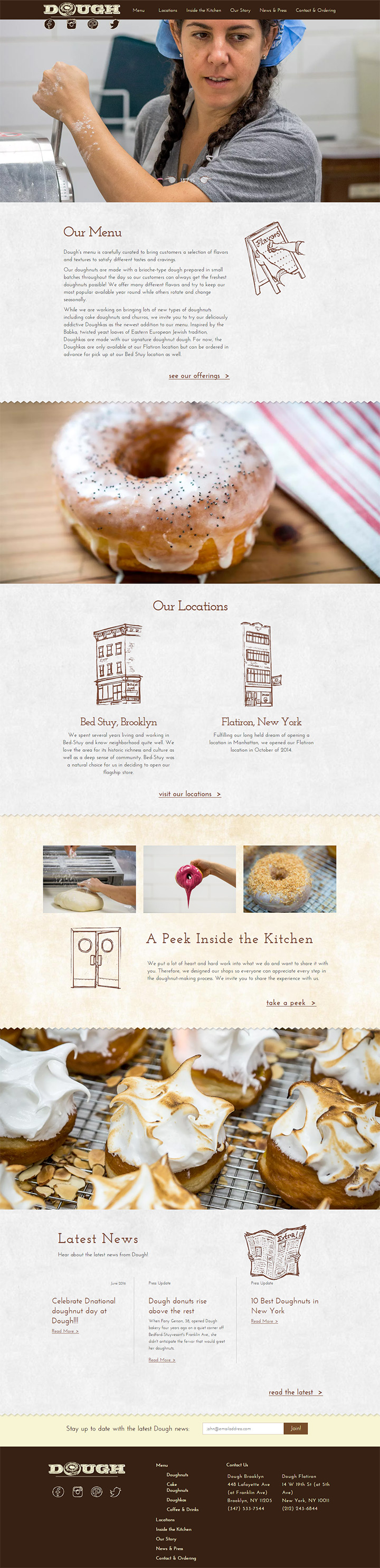 dough doughnuts homepage